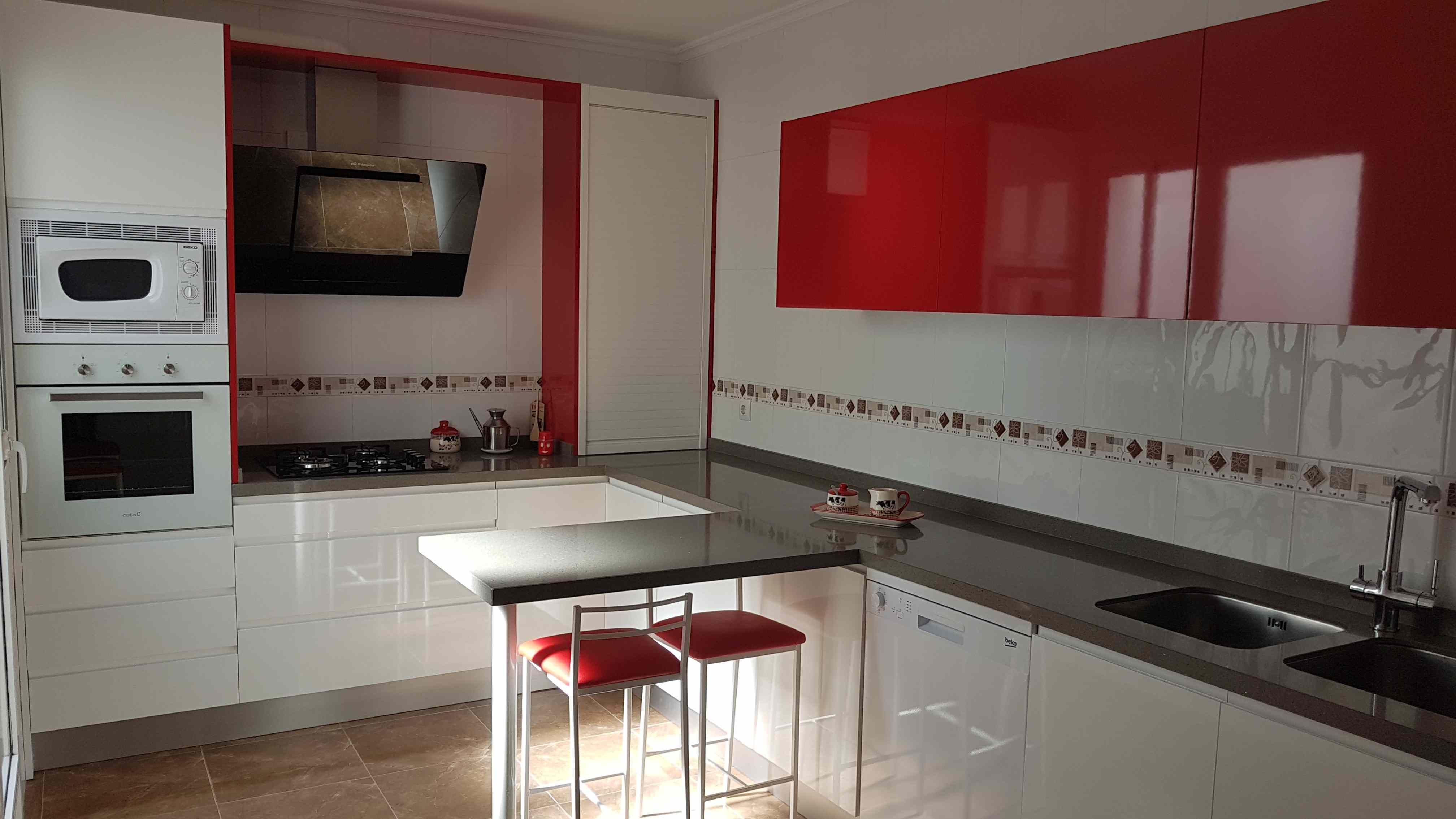 Cocinas blanco y rojo good interesting magnfico cocina en color negro diseos de cocinas - Eurokit cocinas ...